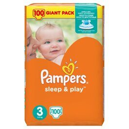 Подгузники Pampers Sleep&Play Миди 6-10 кг 100 шт