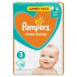 Подгузники Pampers Sleep&Play 6-10 кг 78 шт.