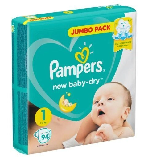 Подгузники Pampers New Baby Dry 2-5 кг 94 шт.