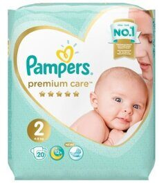 Подгузники Pampers Premium Care 2 (4-8 кг) 20 шт