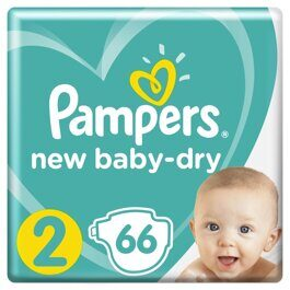 Подгузники Pampers Active Baby-Dry Мини 4-8 кг 66 шт