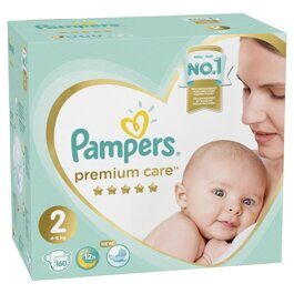Подгузники Pampers Premium Care New Baby 4-8 кг 160 шт.