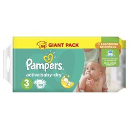 Подгузники Pampers Active Baby-Dry 5-9 кг 108 шт.