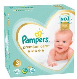 Подгузники Pampers Premium Care New Baby 6-10 кг 114 шт.