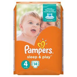 Подгузники Pampers Sleep&Play 4 (9-14 кг) 14 шт.