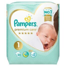 Подгузники Pampers Premium Care Newborn 2-5 кг 20 шт.