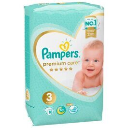 Подгузники Pampers Premium Care 3 (6-10 кг) 18 шт