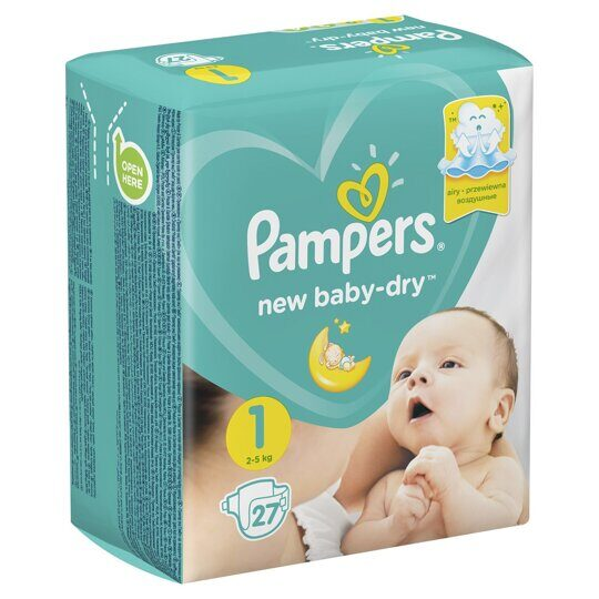 Подгузники Pampers New Baby 2-5 кг 27 шт.