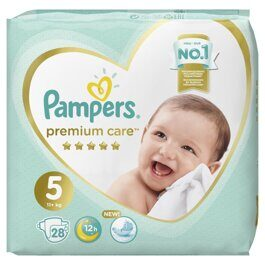 Подгузники Pampers Premium Care Junior 5  (11+ кг) 28 шт