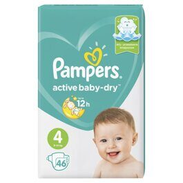 Подгузники Pampers Active Baby-Dry 9-14 кг. 46 шт.