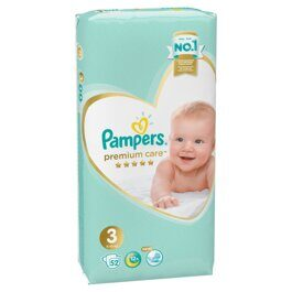 Подгузники Pampers Premium Care 6-10 кг. 52 шт.