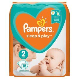 Подгузники Pampers Sleep&Play Мини 4-8 кг 18 шт.