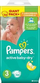 Подгузники Pampers Active Baby-Dry 5-9 кг, 124 шт.