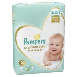 Подгузники Pampers Premium Care 6-10 кг. 74 шт.