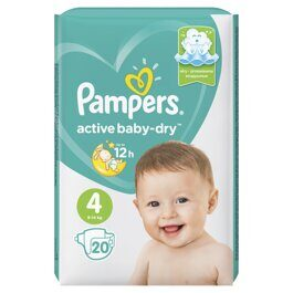 Подгузники Pampers Active Baby-Dry 9-14 кг. 20 шт.
