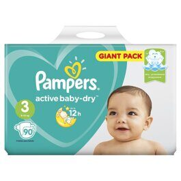 Подгузники Pampers Active Baby-Dry 6-10 кг. 90 шт.