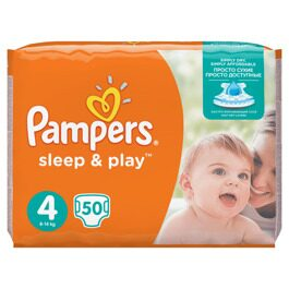 Подгузники Pampers Sleep&Play 4 (9-14 кг) 50 шт.