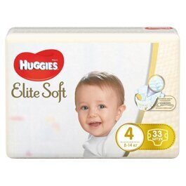 Подгузники Huggies Elite Soft 8-14 кг. 33 шт.