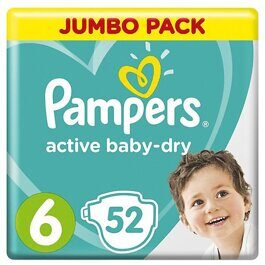 Подгузники Pampers Active Baby Dry 13-18 кг 52 шт.