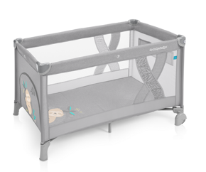 Кроватка-манеж Baby Design Simple New light grey